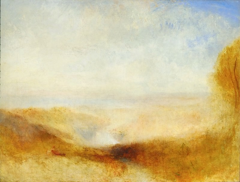 Joseph Mallord William Turner -- Landscape with river and a bay in the far background. Part 5 Louvre