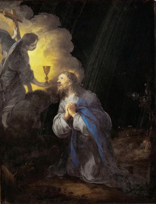 Bartolomé Estebán Murillo -- Christ in the Garden of Olives. Part 5 Louvre