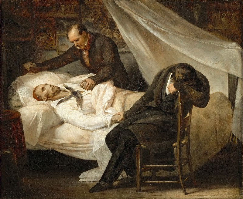 Ary Scheffer (1795-1858) -- Death of Théodore Géricault, January 26, 1824. Part 5 Louvre