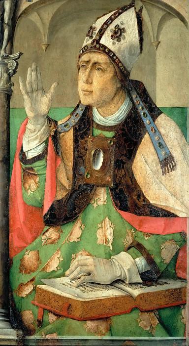 Joos van Gent -- Saint Augustine. Part 5 Louvre