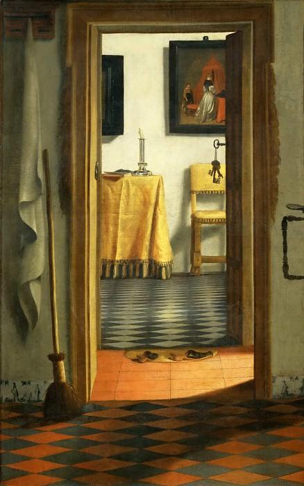 Samuel van Hoogstraten (1627-1678) -- Slippers (Dutch Interior). Part 5 Louvre