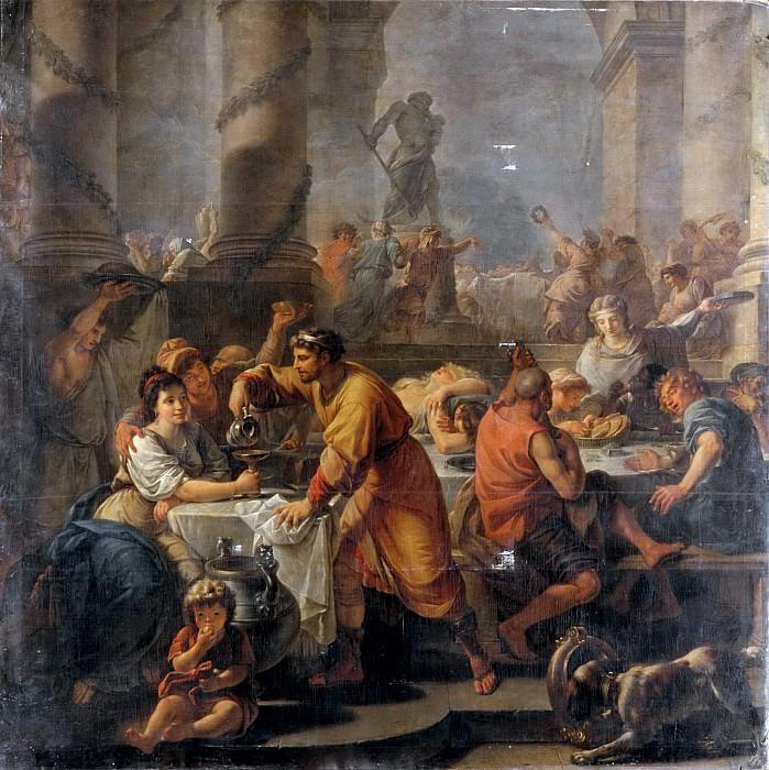 Калле, Антуан-Франсуа (Париж 1741-1823) -- Сатурналии. часть 5 Лувр