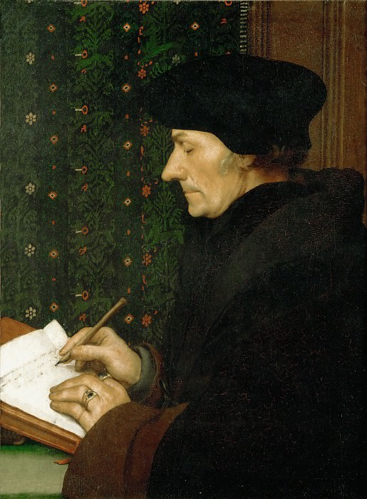 Hans Holbein the Younger (1497 or 1498-1543) -- Erasmus of Rotterdam (1466-1536). Part 5 Louvre