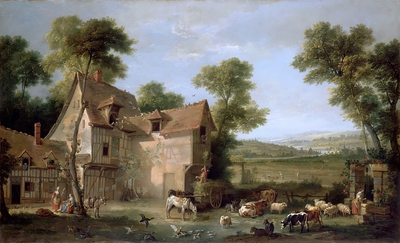 Jean-Baptiste Oudry -- The Farm. Part 5 Louvre