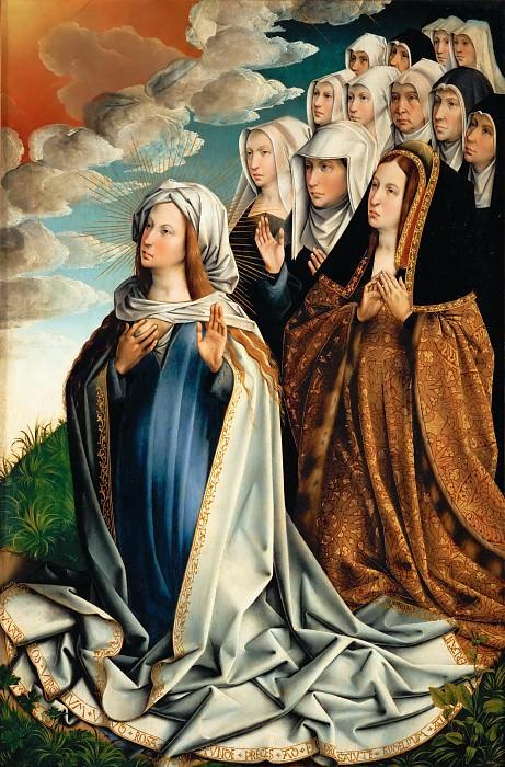 Colijn de Coter -- Saint Mary interceding for Juana la Loca. Part 5 Louvre