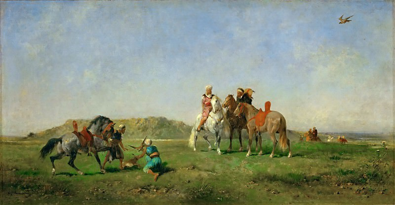 Eugène Fromentin -- Hunting with Falcons in Algeria. Part 5 Louvre