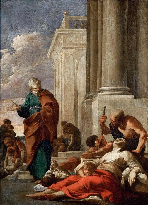 Laurent de La Hyre (1606-1656) -- Saint Peter Healing the Sick with His Shadow. Part 5 Louvre