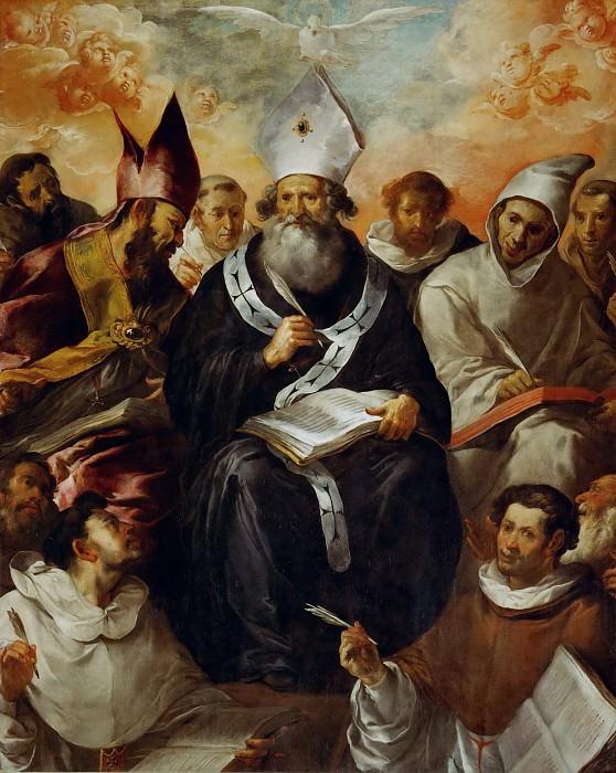 Francisco Herrera the Elder (c. 1576-1656) -- Saint Basil Dictating His Doctrine. Part 5 Louvre