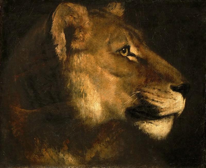 Théodore Géricault -- Head of a Lioness. Part 5 Louvre