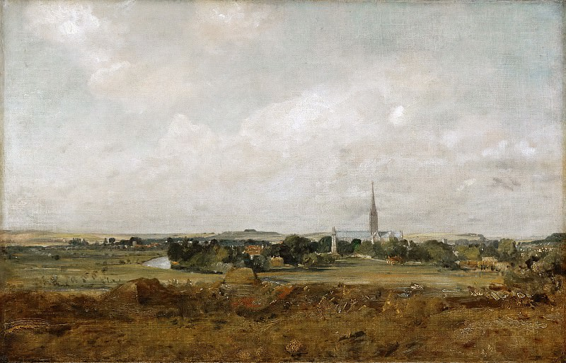 John Constable -- View of Salisbury. Part 5 Louvre