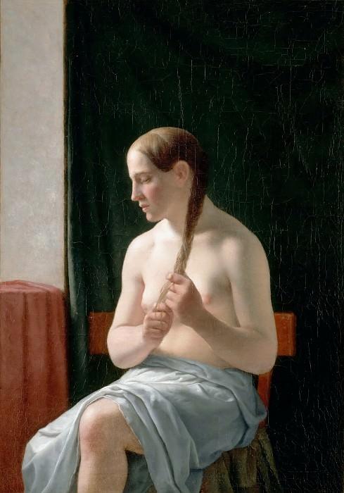 C. W. Eckersberg -- Seated nude, or, 'The Model' (Trine Nielsen). Part 5 Louvre