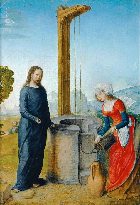 Хуан Фландрский (ок1465 - 1519 Паленсия) -- Христос и самаритянка у колодца. часть 5 Лувр