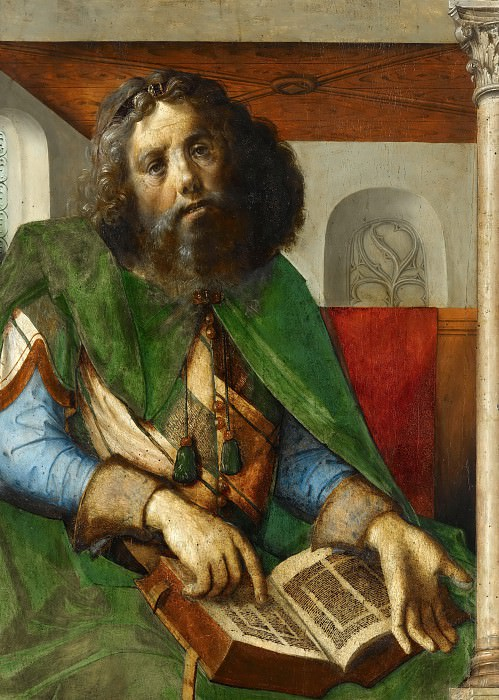 Pedro Berruguete and Joos van Gent -- Plato. Part 5 Louvre