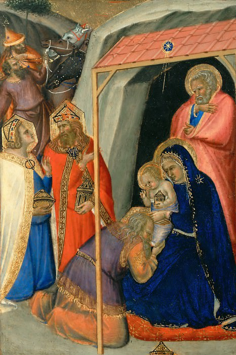 Pietro Lorenzetti -- Adoration of the Magi. Part 5 Louvre