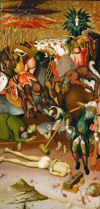 Bernat Martorell -- Decapitation of Saint George. Part 5 Louvre
