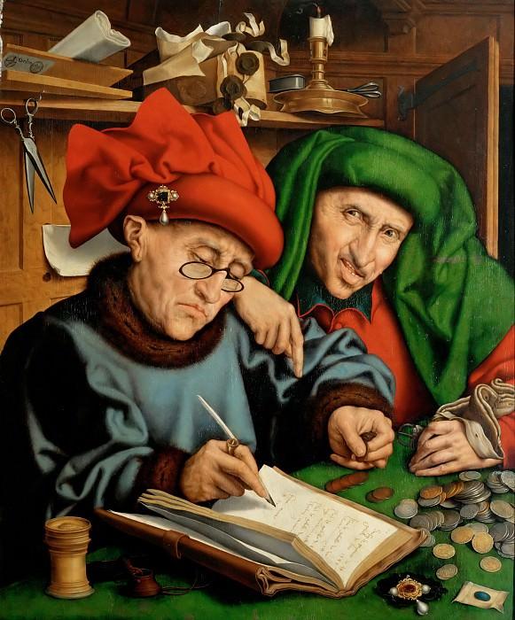 Marinus van Reymerswaele (c. 1490-c. 1567) -- Two Tax Collectors. Part 5 Louvre