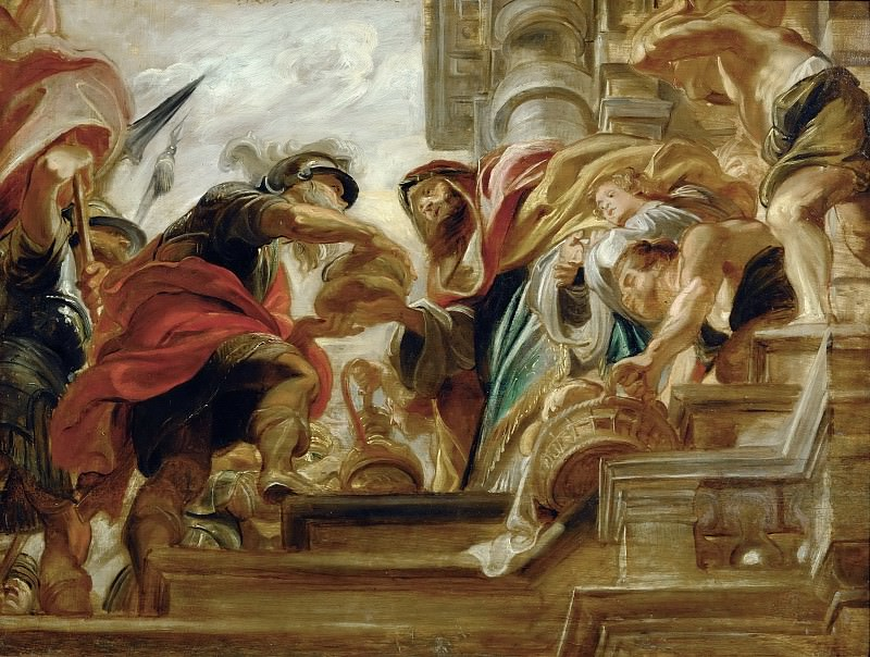 Peter Paul Rubens -- Abraham and Melchizedek, King of Salem. Part 5 Louvre