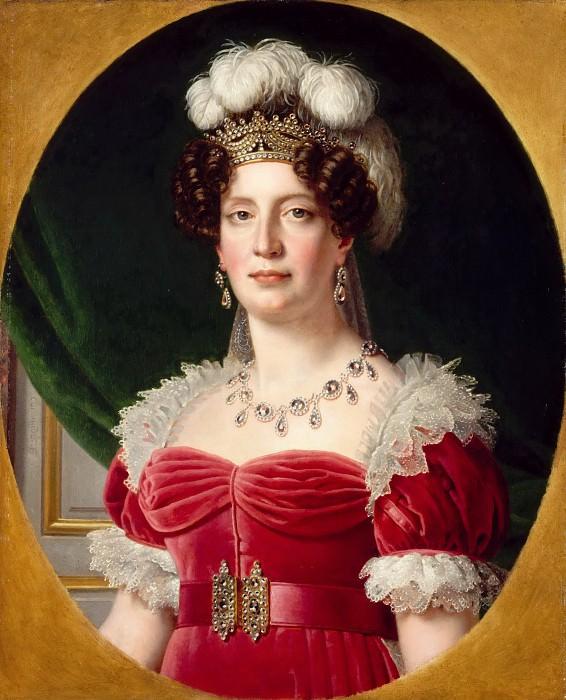 Alexandre-François Caminade -- Portrait of the Duchesse d'Angoulême. Part 5 Louvre