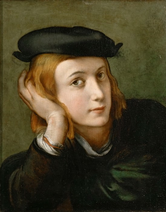 Parmigianino -- Portrait of a Young Man. Part 5 Louvre