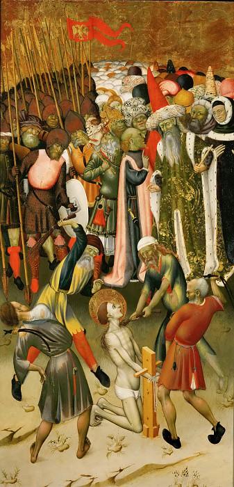 Bernat Martorell -- Flagellation of Saint George. Part 5 Louvre