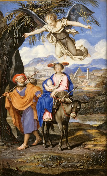 French or German School -- Flight into Egypt. Part 5 Louvre