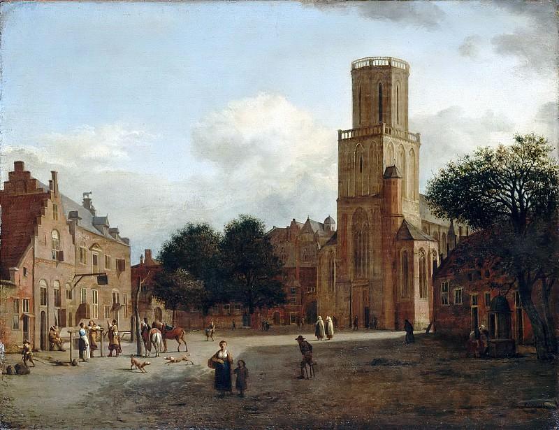 Хейден, Ян ван дер (1637 Горинхем - 1712 Амстердам), фигуры Адриан ван де Вельде -- Церковь святой Альдегунды в Эммерихе. часть 5 Лувр