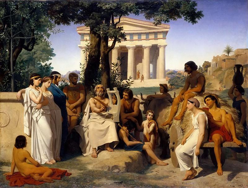 Jean Baptiste Auguste Leloir -- Homer. Part 5 Louvre