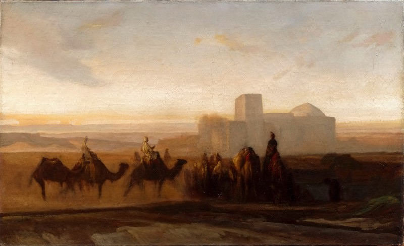 Alexandre-Gabriel Decamps -- The Caravan. Part 5 Louvre