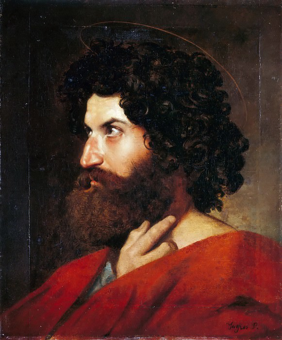Head of Saint Matthew. Jean Auguste Dominique Ingres