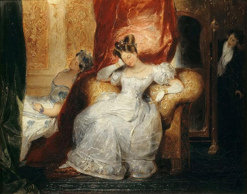 Eugène Devéria -- Young woman sitting. Part 5 Louvre