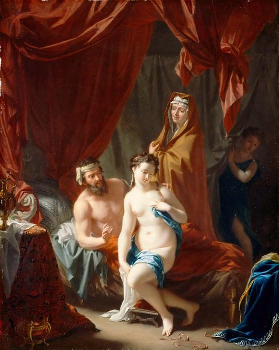 Philip van Dijk -- Sarah presenting Hagar as the second wife of Abraham. Part 5 Louvre