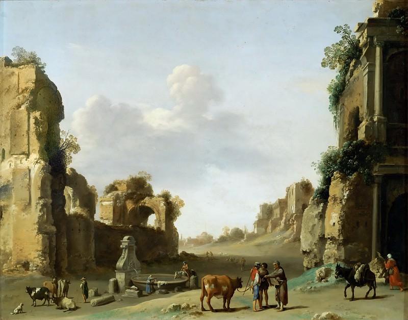 Пуленбурх, Корнелис ван (Утрехт 1586-1667) -- Вид Кампо Ваччино. часть 5 Лувр