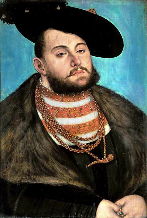 Lucas Cranach the elder -- Johann Friedrich the Magnanimous. Part 5 Louvre