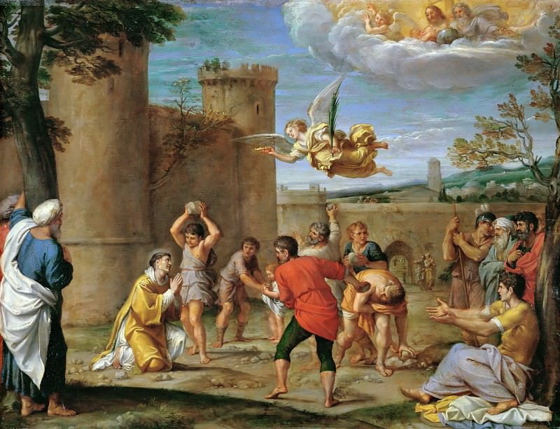 Annibale Carracci (1560-1609) -- Stoning of Saint Stephen. Part 5 Louvre