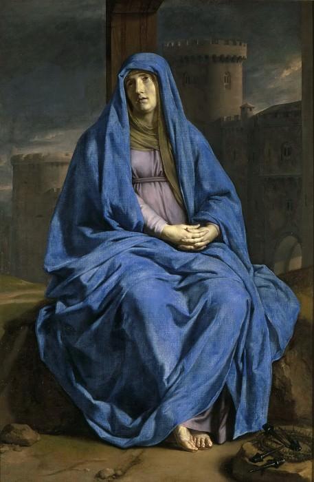 Philippe de Champaigne -- Virgin of Sorrows (Mater Dolorosa; La Vierge de douleur). Part 5 Louvre