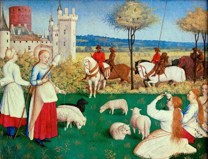 Fouquet, Jean -- Les Heures d'Etienne Chavalier:Saint Margaret and the Prefect Olybrius.Ms.fr.71, around 1445. Part 5 Louvre