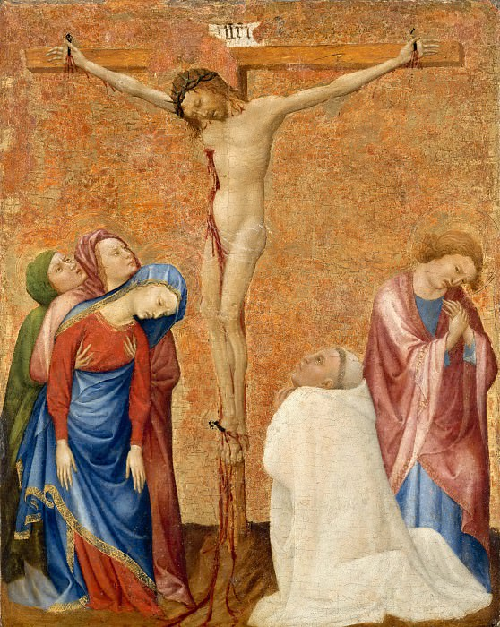 Бомец, Жан де (c.1335 Бомец-лез-Лож - 1396 Дижон) -- Распятие с донатором, монахом-картезианцем. Part 5 Louvre