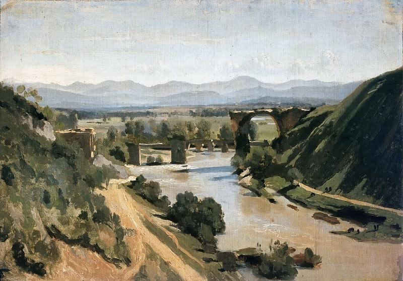 Коро, Жан-Батист-Камиль (Париж 1796-1875) -- Мост в Нарни, 1826, 34х48. часть 5 Лувр