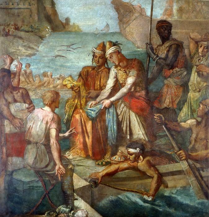 Théodore Chassériau -- Commerce Brings Peoples Together (Les Marchands orientaux dans un Port Occidental; Eastern Merchants on a Western Shore). Part 5 Louvre