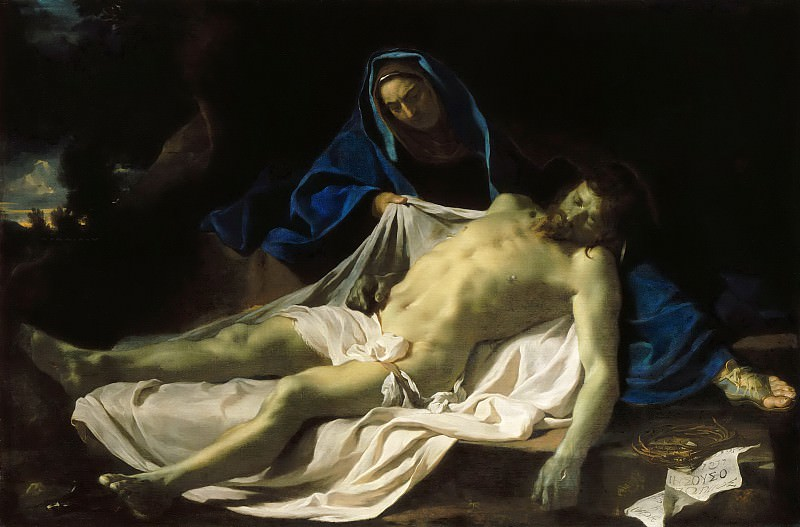 Charles Le Brun -- Dead Christ on the Knees of the Virgin. Part 5 Louvre