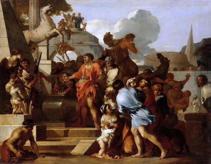 Sébastien Bourdon -- Augustus before the Tomb of Alexander. Part 5 Louvre