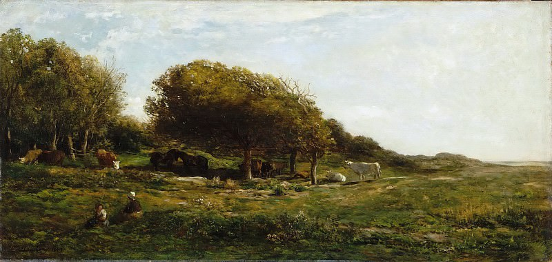 Charles François Daubigny -- The Graves of Villerville, also called Pasture with a View of the Sea. Part 5 Louvre