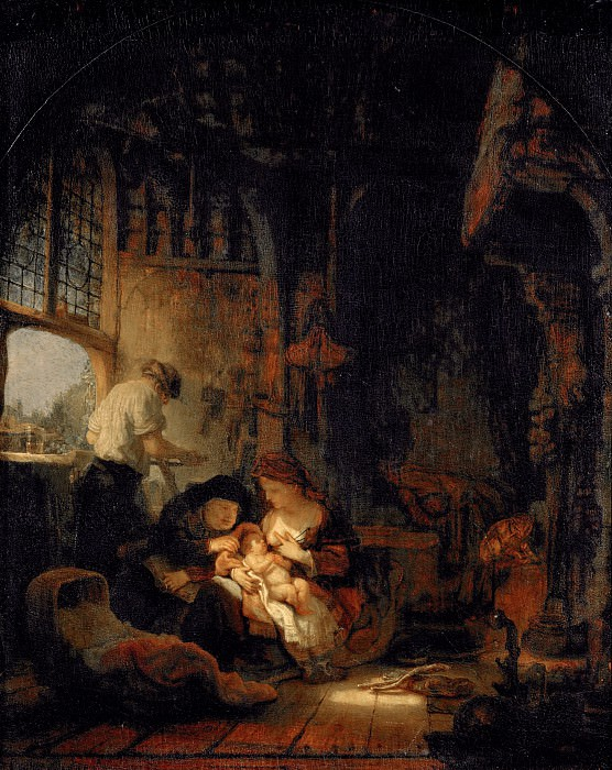 Rembrandt van Rijn -- Holy Family (Household of the Carpenter). Part 5 Louvre