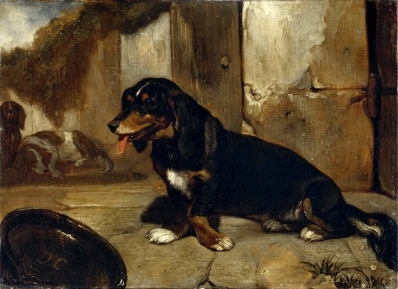 Alexandre-Gabriel Decamps -- Basset Hound. Part 5 Louvre