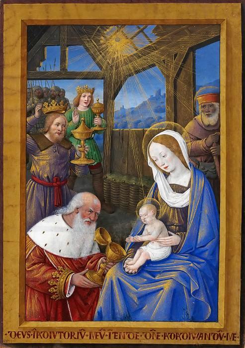 Jean Bourdichon -- Adoration of the Magi. Part 5 Louvre