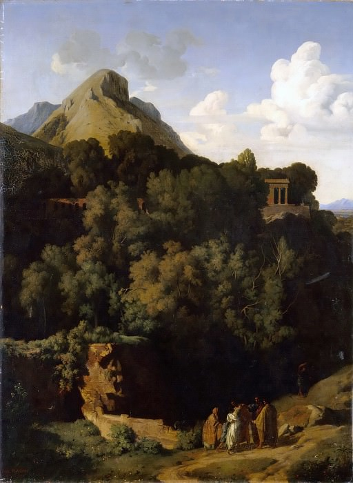 Jean-Paul Flandrin -- Sabine Mountains (Farewell of a conscript to his family). Part 5 Louvre