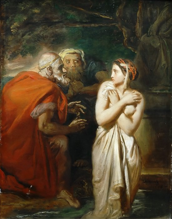 Théodore Chassériau -- Susanna and the Elders. Part 5 Louvre