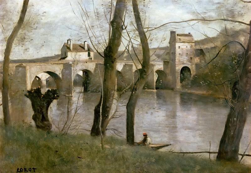 Коро, Жан-Батист-Камиль (Париж 1796-1875) -- Мост в Манте. часть 5 Лувр