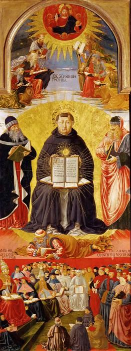 Benozzo Gozzoli (1421-1497) -- Triumph of Saint Thomas Aqunas. Part 5 Louvre