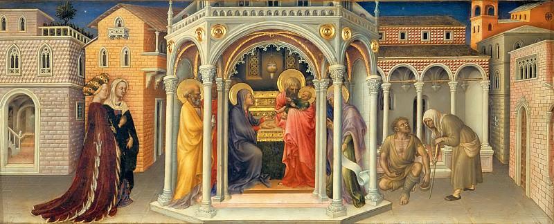 Gentile da Fabriano -- Presentation in the Temple. Part 5 Louvre